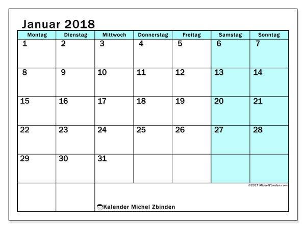 Kalender Januar 2018, Laurentia