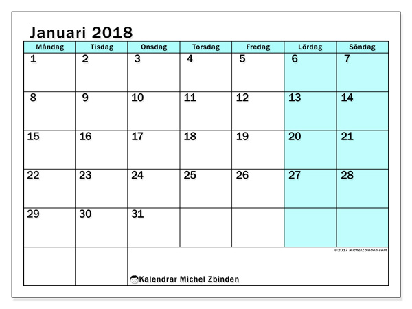 Kalender januari 2018, Laurentia