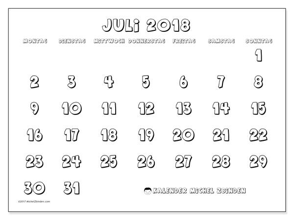Kalender Juli 2018, Adrianus