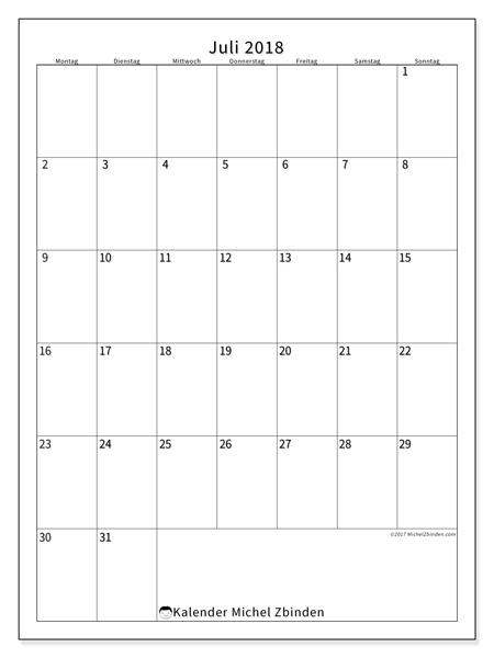 Kalender Juli 2018, Antonius