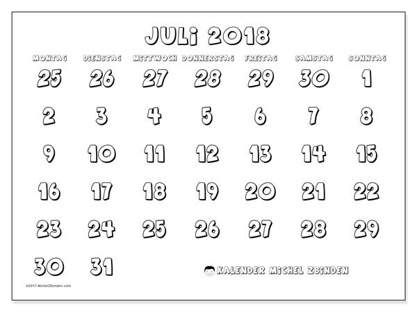 Kalender Juli 2018, Hilarius