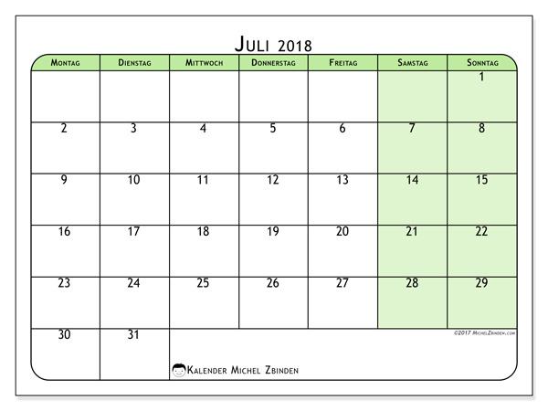 Kalender Juli 2018, Silvanus