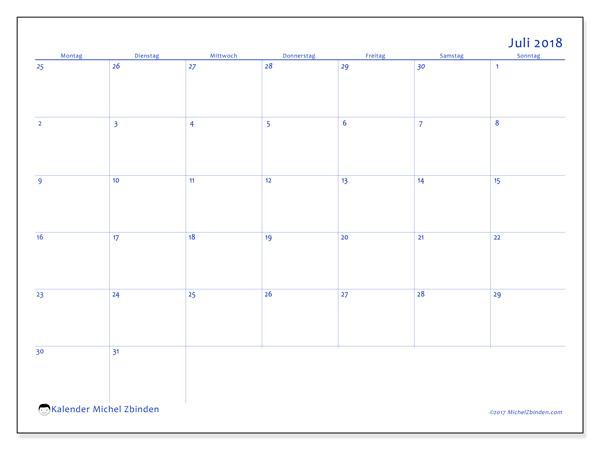 Kalender Juli 2018, Vitus