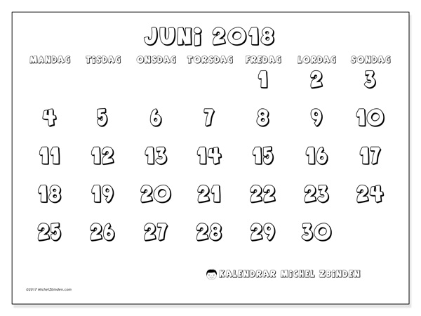 Kalender juni 2018, Adrianus
