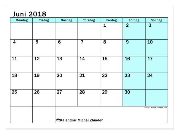 Kalender juni 2018, Laurentia