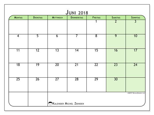 Kalender Juni 2018, Silvanus