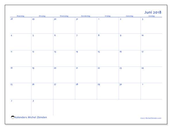 Kalender juni 2018, Vitus