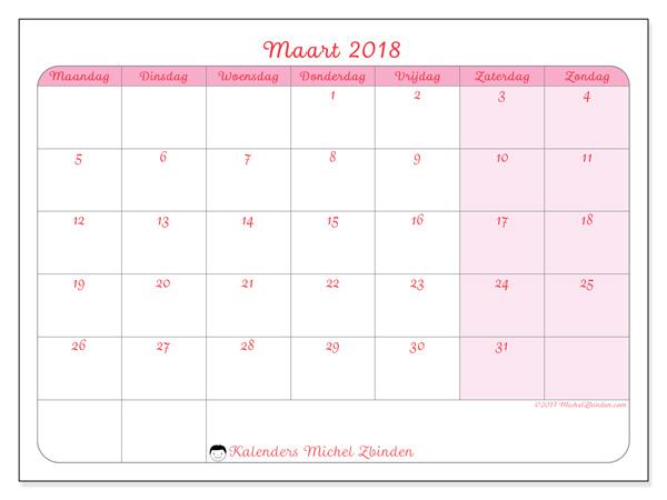 Kalender maart 2018, Generosa