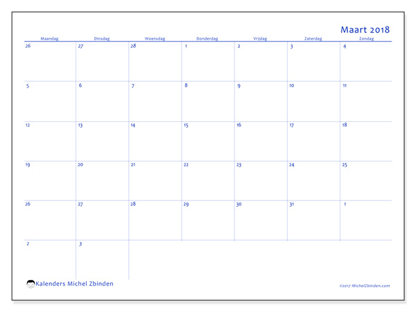 Kalender maart 2018, Vitus