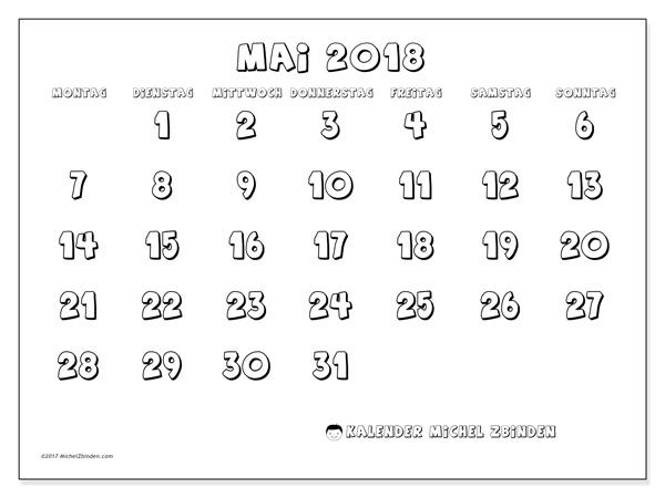 Kalender Mai 2018, Adrianus
