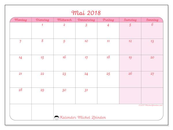 Kalender Mai 2018, Generosa