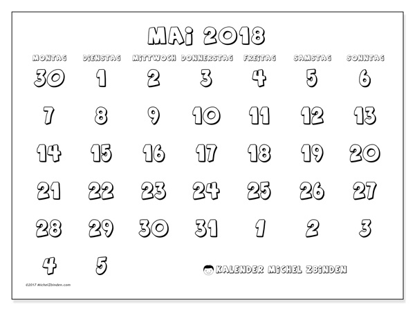 Kalender Mai 2018, Hilarius