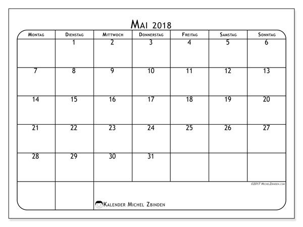 Kalender Mai 2018, Marius