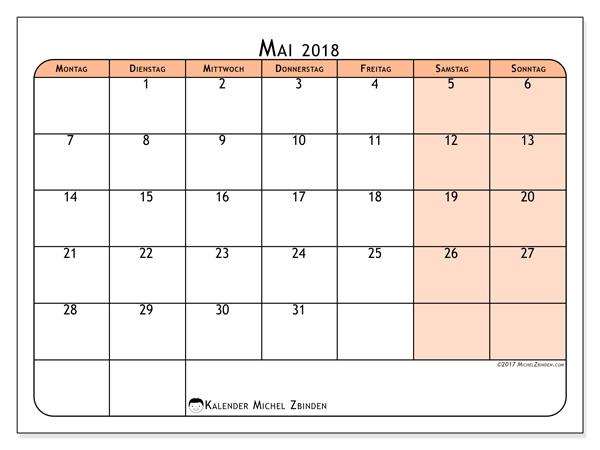 Kalender Mai 2018, Olivarius
