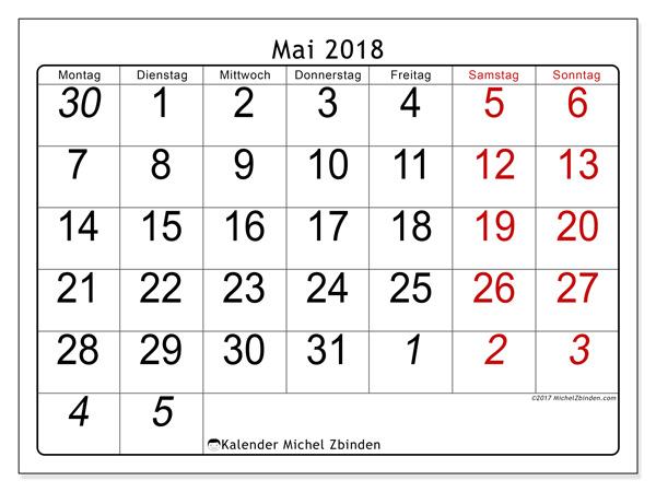 Kalender Mai 2018, Oseus