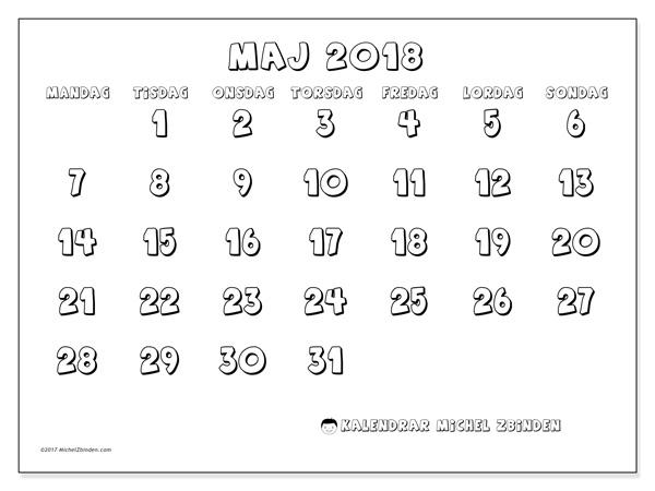 Kalender maj 2018, Adrianus