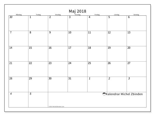 Kalender maj 2018, Deodatus