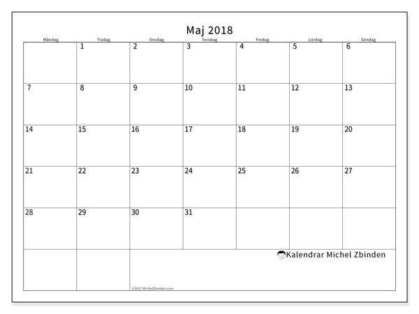 Kalender maj 2018, Horus