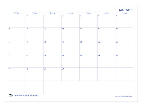 Kalender maj 2018, Ursus
