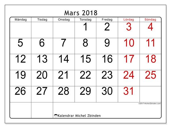 Kalender mars 2018, Emericus