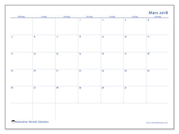 Kalender mars 2018, Ursus