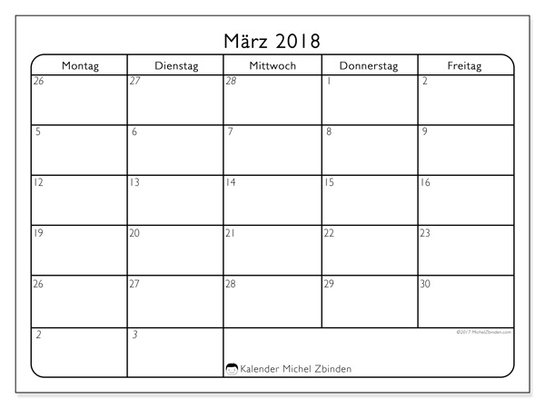 Kalender März 2018, Egidius