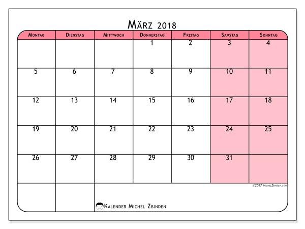 Kalender März 2018, Severinus
