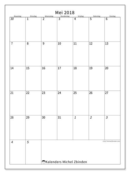 Kalender mei 2018 - Regulus (nl)
