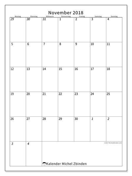Kalender November 2018, Regulus