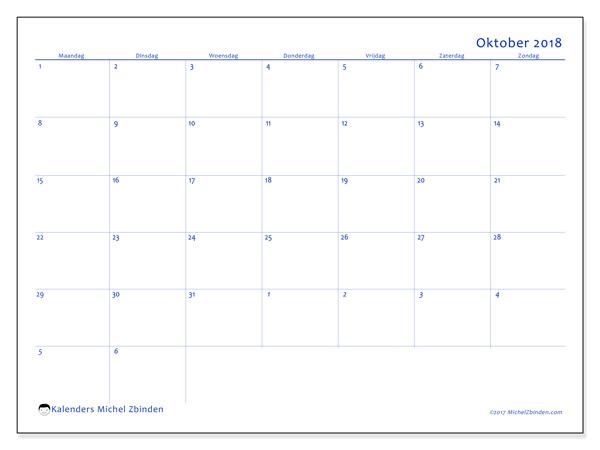 Kalender oktober 2018, Vitus