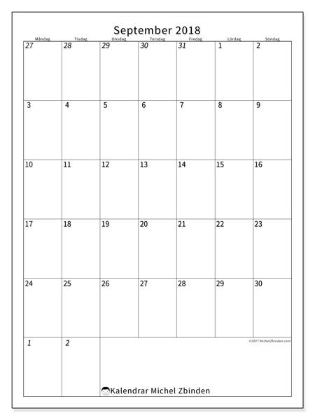 Kalender september 2018, Regulus