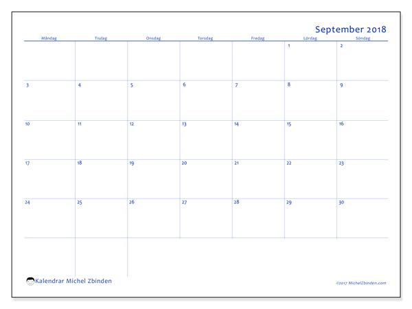 Kalender september 2018, Ursus