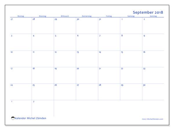 Kalender September 2018, Vitus