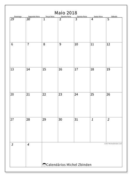 Calendário  maio de 2018, 68DS