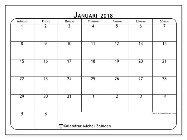 Kalendrar januari 2018 (67MS).