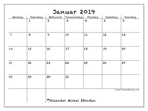 kalender januar 2019 77ms michel zbinden de. Black Bedroom Furniture Sets. Home Design Ideas