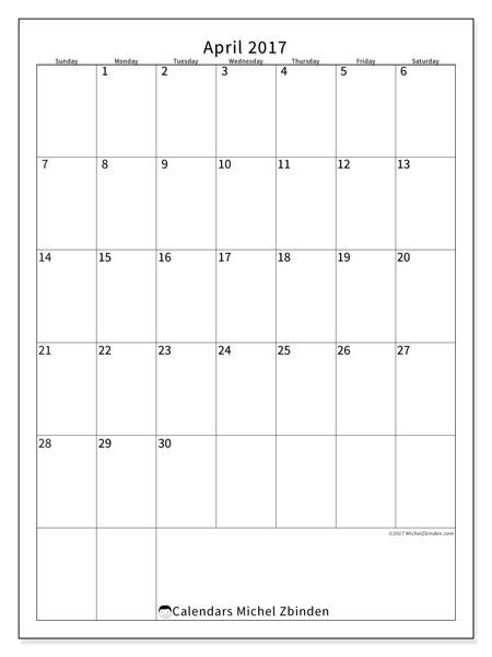 April 2019 Calendar, 52SS. Calendar to print free.