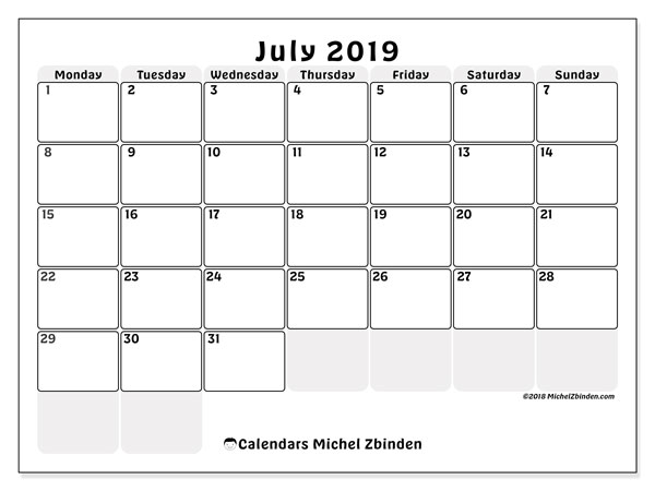 July 2019 Calendar 44ms Michel Zbinden En
