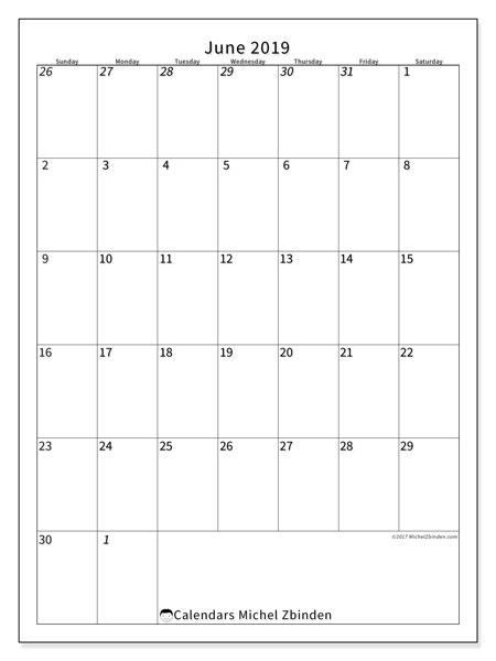 Calendar  June 2019, 68SS