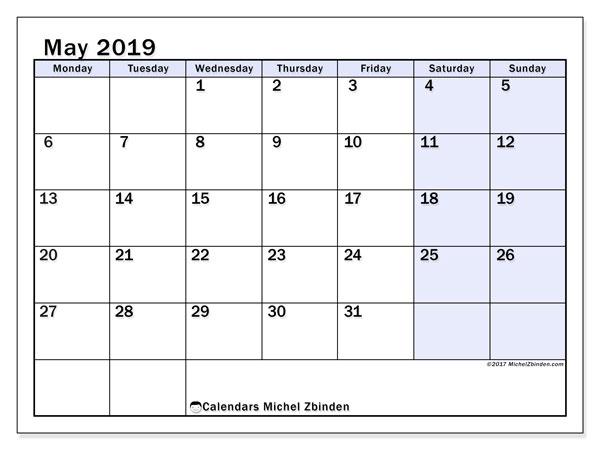 May 2019 Calendar 57ms Michel Zbinden En