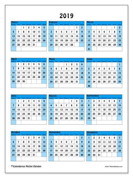 Calendario 2019 Chile Con Feriados Para Imprimir