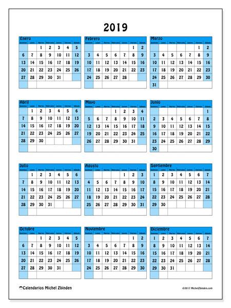 Calendarios 2019 Ds Michel Zbinden Es