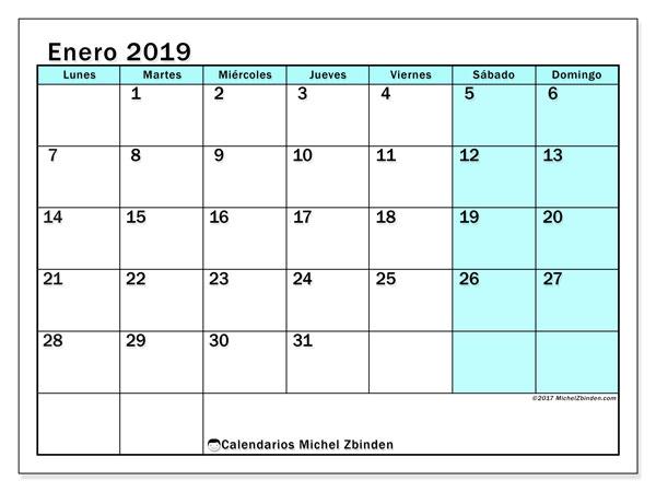 Calendarios Enero 2019 Ld Michel Zbinden Es