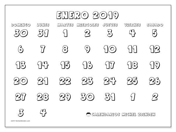 Calendario Enero 2019 71ds Michel Zbinden Es