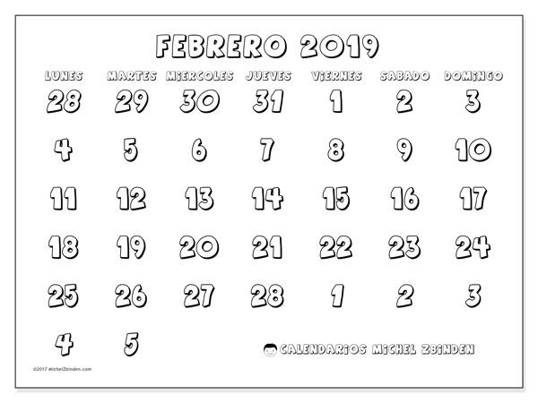 Calendario Febrero 2019 71ld Michel Zbinden Es