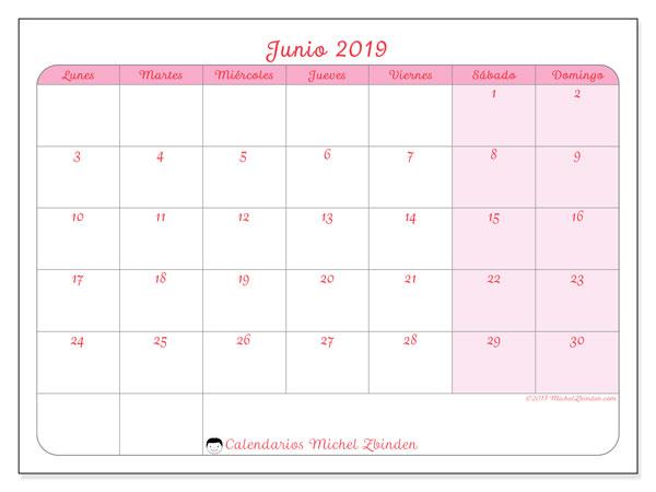 Calendario 2019 Rosa Portugues.Calendarios Junio 2019 Ld Michel Zbinden Es
