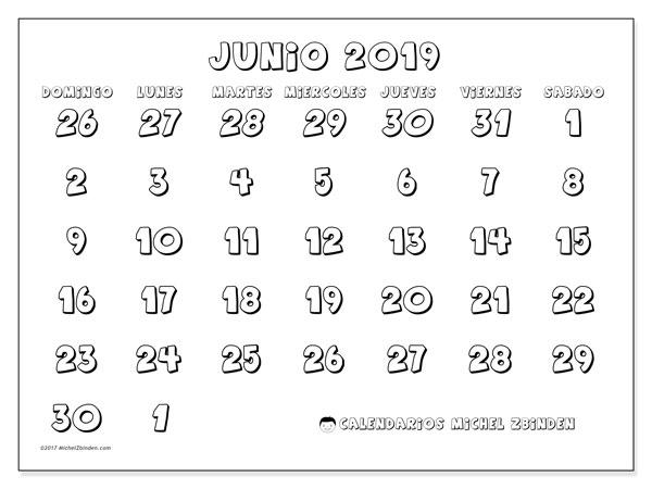 Calendario Junio 2019 71ds Michel Zbinden Es