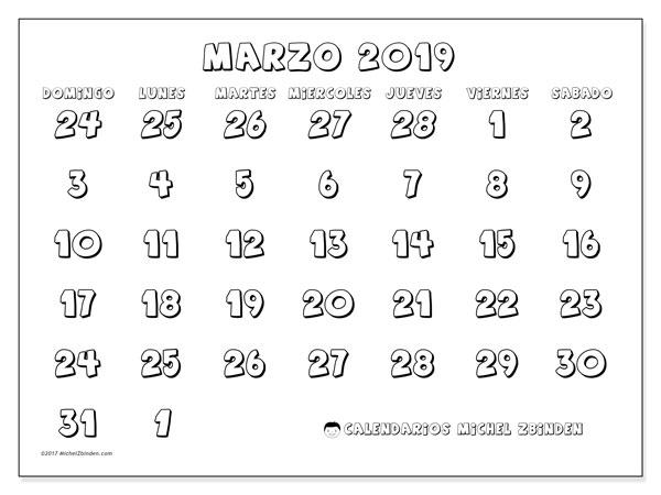 Calendario Marzo 2019 71ds Michel Zbinden Es