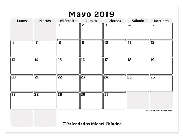 Calendario 2019 Rosa Portugues.Calendarios Mayo 2019 Ld Michel Zbinden Es