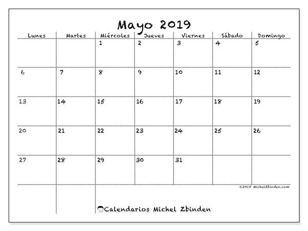 Calendario Mayo2019.Calendario Mayo 2019 77ld Michel Zbinden Es